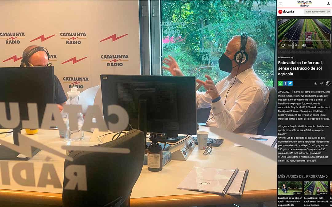 2021.09.23 Meteo Mauri @ Catalunya Radio 👈 Click aquí para la entrevista Daniel Ramírez y José Luis Gallego entrevistan a  Guy de Maillé